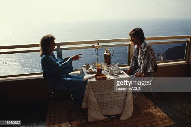 Swedish Tennis Legend Bjorn Borg In Monaco On March 22, 1983-Swedish tennis legend Bjorn Borg with his wife tennis player Mariana Simionescu in...