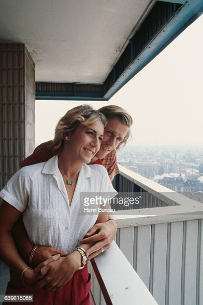 Swedish tennis player Bjorn Borg and his Romanian fiancee Mariana Simionescu in Bucarest while vacationing in Romania.