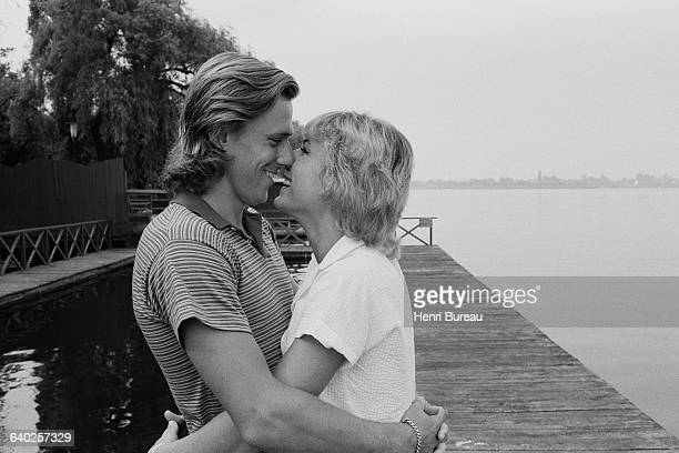 Swedish tennis player Bjorn Borg and his Romanian fiancee Mariana Simionescu on vacation in Romania, in the region of Snagov Lake. | Location:...