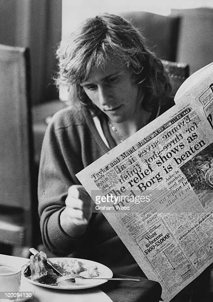 Swedish tennis player Bjorn Borg at his hotel in Swiss Cottage London 2nd July 1974 The previous day Borg was knocked out of the Wimbledon...