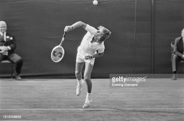 Swedish tennis player Bjorn Borg at the Wimbledon Championships in London, UK, 26th June 1973.