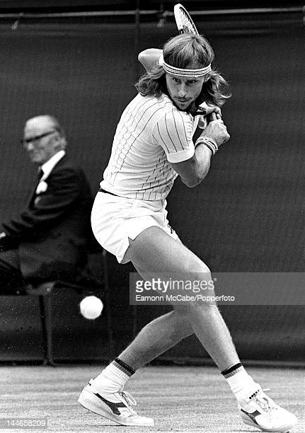 Swedish tennis player Bjorn Borg on his way to victory in the Men's Singles at Wimbledon London JuneJuly 1978