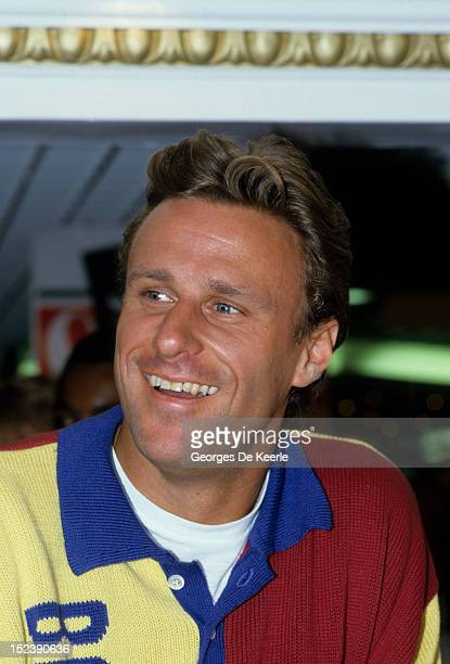 Swedish tennis player Bjorn Borg launches a fragrance in London on October 22 1987