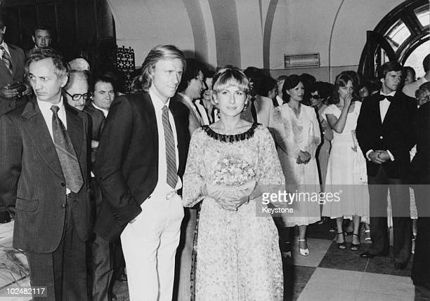 Swedish tennis player Bjorn Borg marries Romanian player Mariana Simionescu at a civil ceremony in Bucharest Romania 24th July 1980