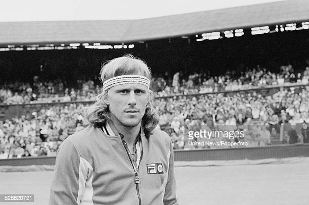 Swedish tennis player Bjorn Borg pictured before his first round match with Victor Amaya at Wimbledon Lawn Tennis Championships in London in June 1978
