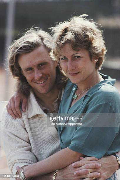 Swedish tennis player Bjorn Borg pictured with his wife Romanian tennis player Mariana Simionescu in Monaco after winning the 1980 Monte Carlo Open...