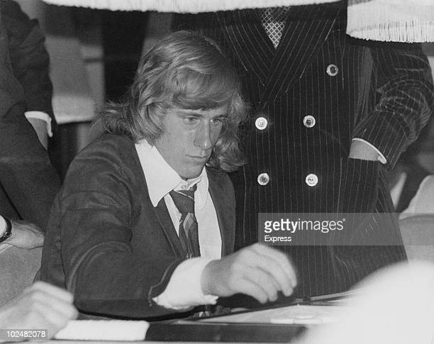 Swedish tennis player Bjorn Borg plays backgammon at Crockfords Club in London's West End 2nd July 1974