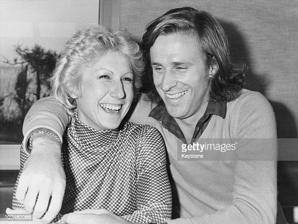 Swedish tennis player Bjorn Borg with his fiancee, Romanian player Mariana Simionescu, 21st January 1980.