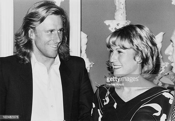 Swedish tennis player Bjorn Borg with his fiancee, Romanian tennis player, Mariana Simionescu, 18th May 1980.