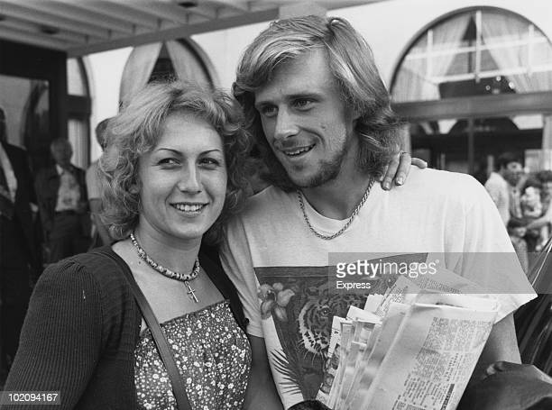 Swedish tennis player Bjorn Borg with his wife the Romanian tennis player Mariana Simionescu 1983