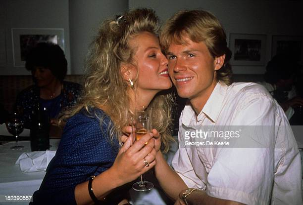 Swedish tennis player Stefan Edberg with his girlfriend Annette Olsen in London on July 4 1988