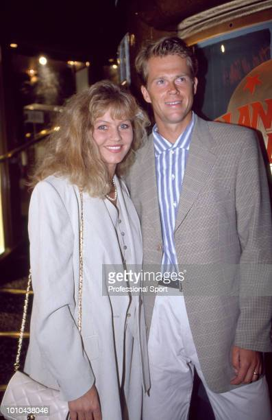 Swedish tennis player Stefan Edberg with his wife Annette at the ATP Players' Awards Party during the ATP Tour World Championships at Planet...