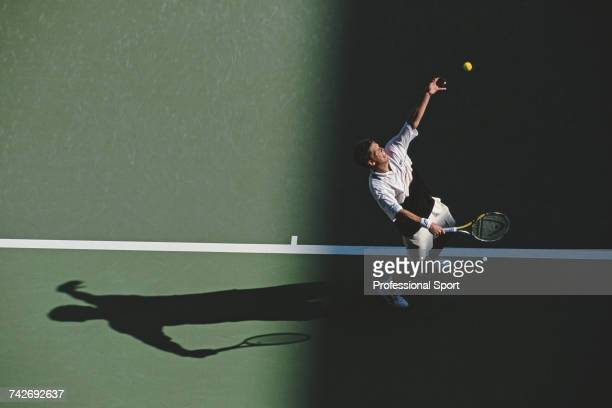 Swedish tennis player Thomas Enqvist pictured in action during progress to reach the final of the Men's Singles tennis tournament at the 1999...
