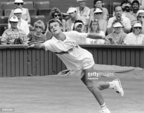 Swedish tennis star Mats Wilander at Wimbledon 29th June 1987