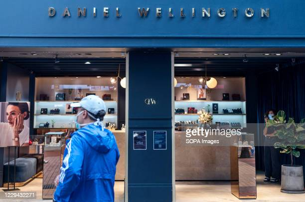 Swedish watchmaker brand Daniel Wellington store seen in Hong Kong