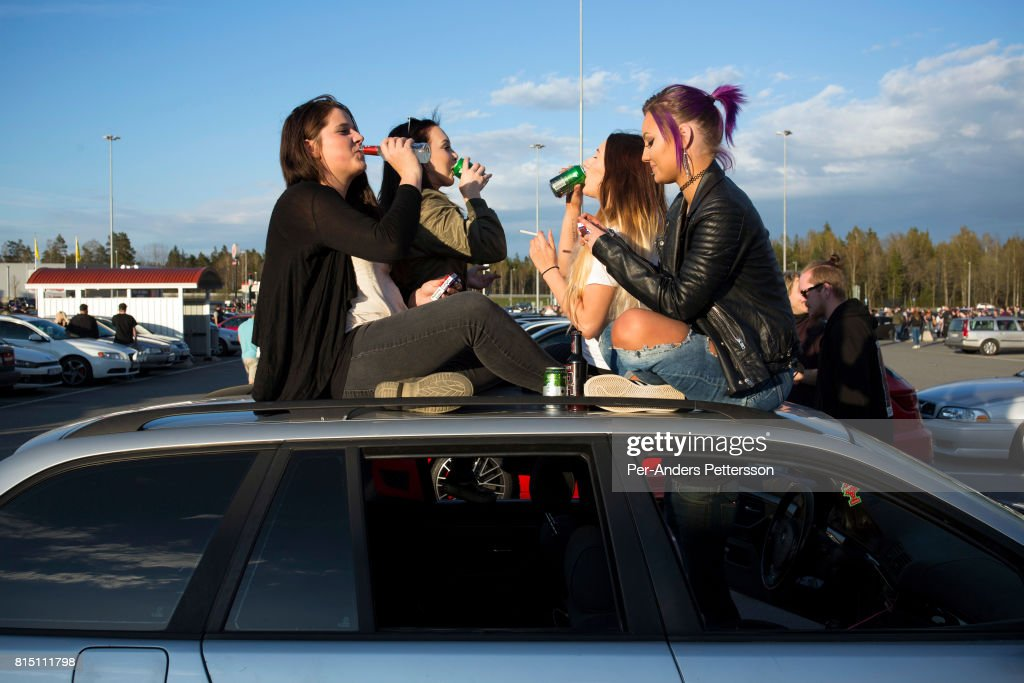 Car meet in small town Sweden Pictures | Getty Images