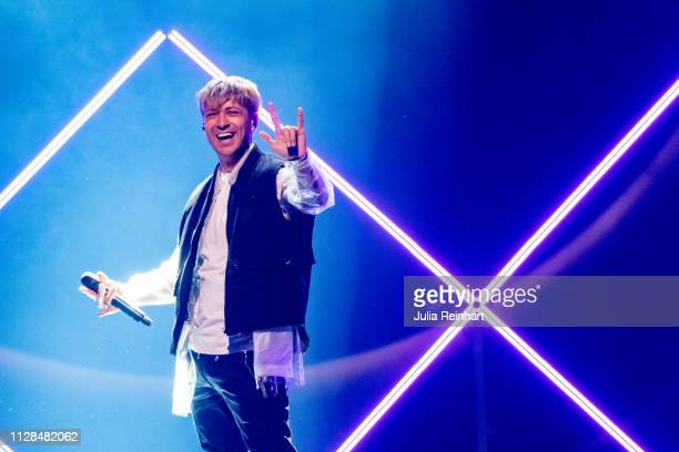 Swedish YouTuber Vlad Reiser participates in the second heat of Melodifestivalen Sweden's competition to select the country's representative at the...