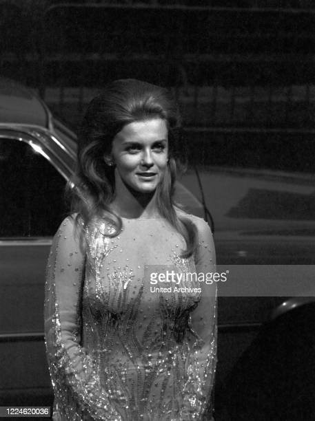 SwedishAmerican actress AnnMargret at the Cannes Film Festival 23 May 1975 France 1970s