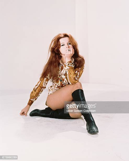 SwedishAmerican actress AnnMargret wearing black boots circa 1967