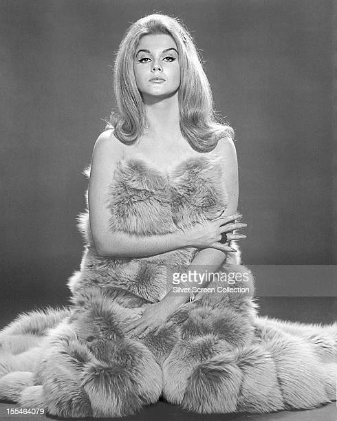 SwedishAmerican actress AnnMargret wrapped in a fur circa 1968