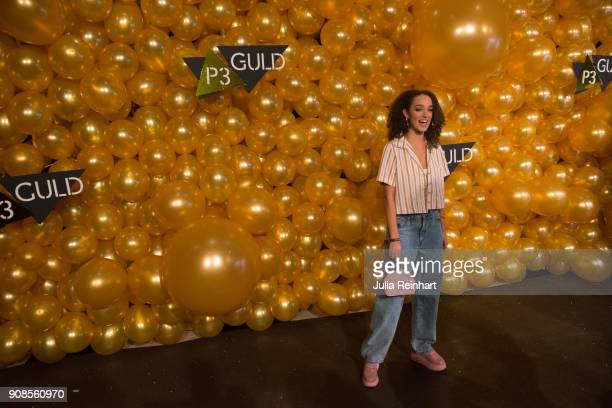 SwedishAmerican singer Rhys Clarstedt arrive at the P3 Guld Gala Swedish Radio's celebration of the best in Swedish Music on January 20 2018 at...
