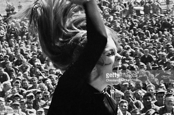 Swedishborn actress and showgirl AnnMargret performs for American troops during the Vietnam War