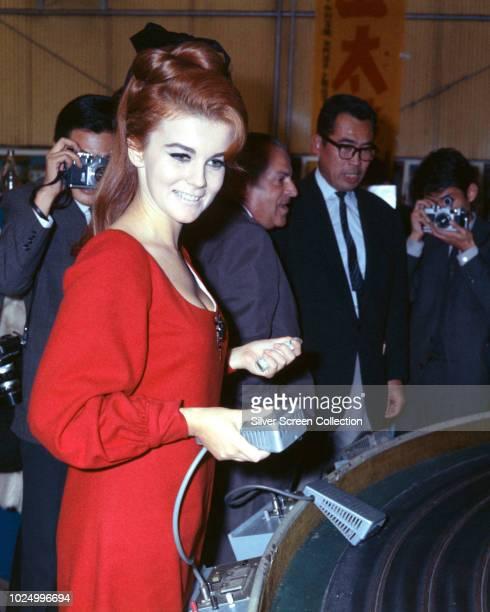 Swedishborn actress AnnMargret in Tokyo Japan to promote her latest film 'The Cincinnati Kid' October 1965