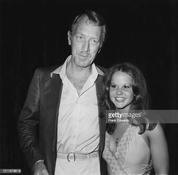 SwedishFrench actor Max von Sydow and American actress Linda Blair at a luncheon held at Warner Bros's headquarters for the cast of horror film...