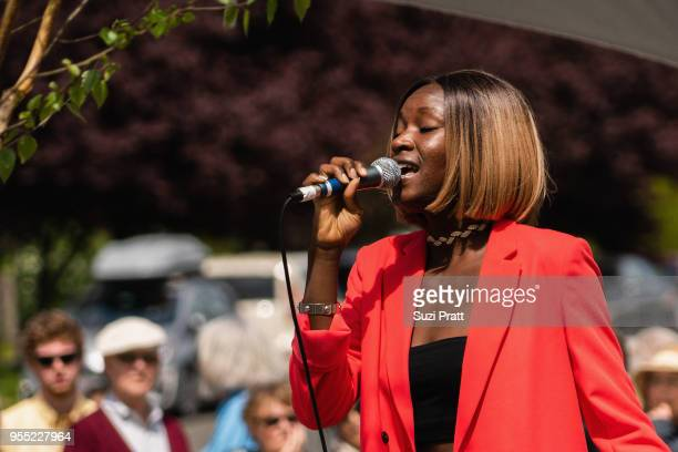 SwedishKenyan singer Baldina performs at the Nordic Museum on May 5 2018 in Seattle Washington