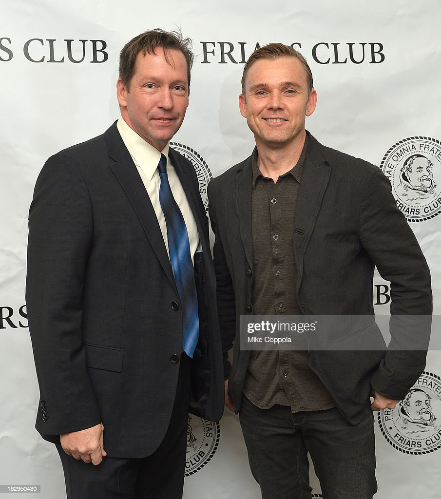 D.B. Sweeney (L) and actor Ricky Schroder attend The Friars Club: 'So You Think You Can Roast?' Celebrating Ricky Schroder at New York Friars Club on March 1, 2013 in New York City.