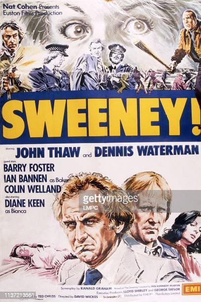 Sweeney poster British poster bottom from left John Thaw Dennis Waterman Diane Keen 1977