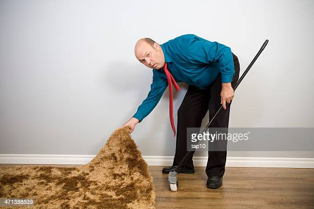 sweep it under the rug - overhemd en stropdas stockfoto's en -beelden