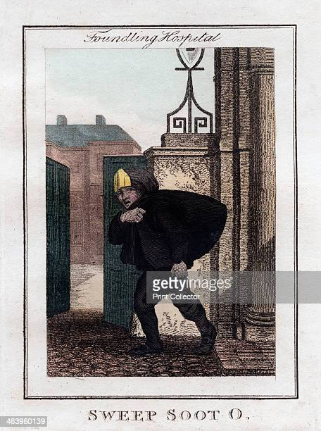 'Sweep Soot O' Foundling Hospital London 1805 A copper plate representing the itinerant traders of London from Modern London Being the History and...