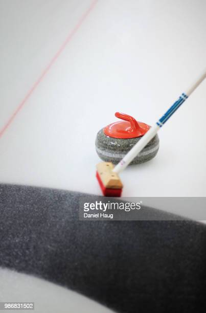 sweeping curling - curling stone stock pictures, royalty-free photos & images