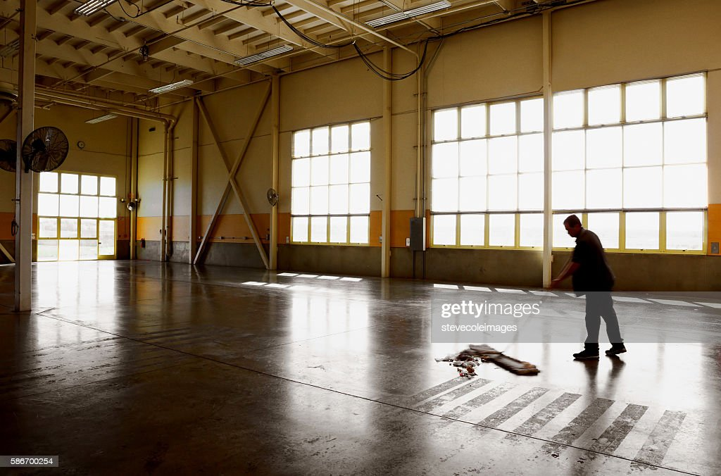 Sweeping Floor : Stock Photo