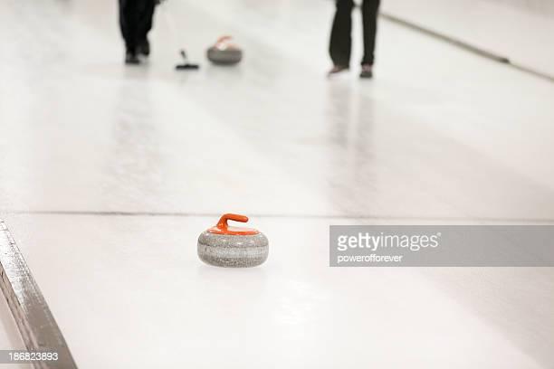 Balayer le Palet de Curling