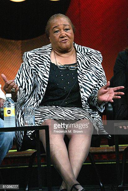 """Sweet"""" Alice Harris, recipient of """"Extreme Makeover: Home Edition"""" speaks with the press at the ABC Summer TCA Press Tour - Day 2 at the Century..."""