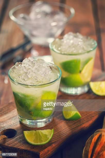 Sweet and Refreshing Drink Caipirinha Cocktail