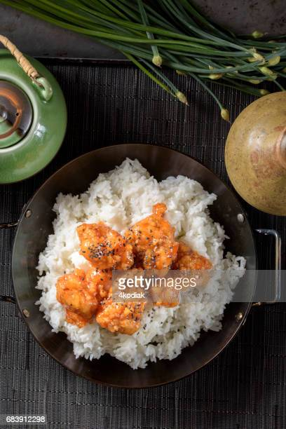 Sweet and Sour Pork over Rice