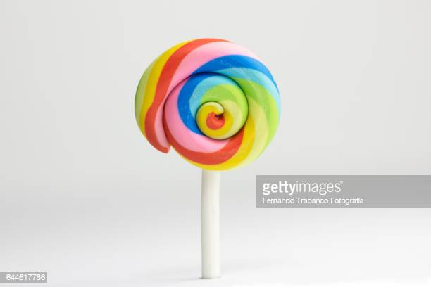Sweet and tasty colorful lollipop