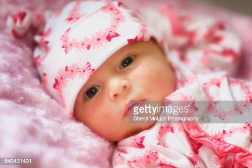 sweet baby girl in pink stock photo getty images - Sweet Baby Girl