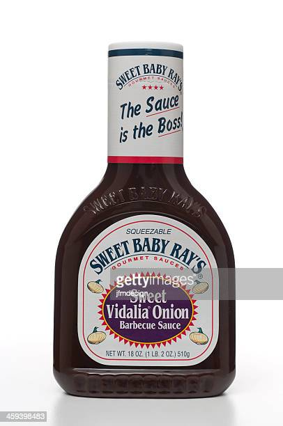 sweet baby ray's vidalia barbecue sauce - barbeque sauce stock photos and pictures