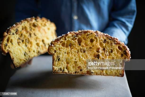 sweet bread - colomba pasquale - colomba pasqua foto e immagini stock