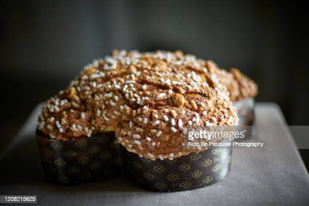 sweet bread - colomba pasquale - italian easter stock pictures, royalty-free photos & images