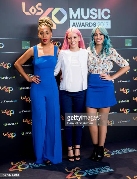 Sweet California attends 40 Principales Awards candidates dinner 2017 on September 14 2017 in Madrid Spain