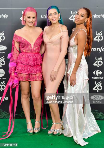 Sweet Calinornia attends 'LOS40 Music Awards' 2018 at WiZink Center on November 2 2018 in Madrid Spain