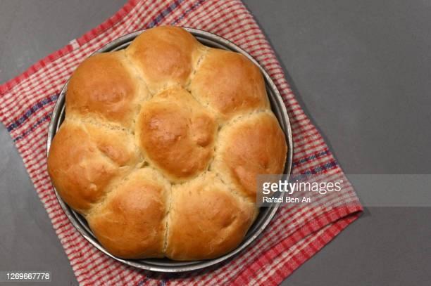 sweet challah bread for rosh hashana jewish holiday - rafael ben ari stock pictures, royalty-free photos & images