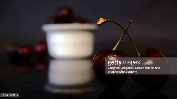 sweet cherries - gregoria gregoriou crowe fine art and creative photography. stockfoto's en -beelden