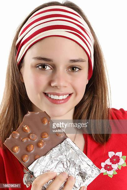sweet chocolate - nuts models stock photos and pictures
