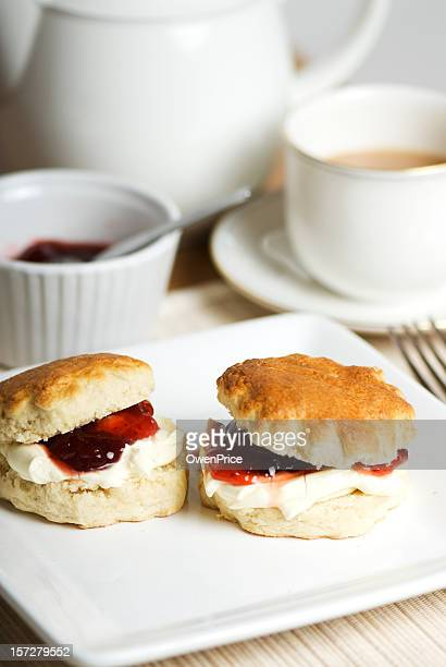 Sweet cream teas served on delicate white China